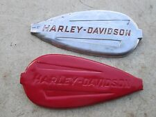 Harley-Davidson Pair Brass Gas Tank Fuel Tank Emblems Flathead Knucklehead OEM