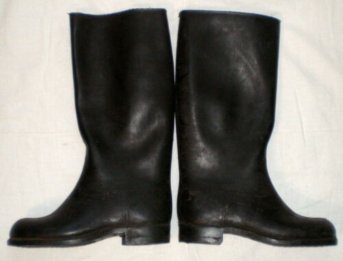 Vintage Russian Soviet Army Military Rubber Boots USSR 1965 Black Combat Rain 40