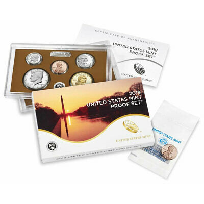 2019 W Lincoln Cent included S US Mint Proof Set clad 10+1 coin 19RG Official