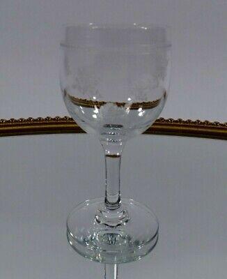 Likörschale Glas Kristall Glas geschliffen 50 er Jahre Design handgeschliffen
