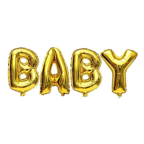 16//40 Inch Gold Silver Foil Balloons Mylar Baby Letter Alphabet Party Decor