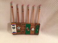 Lot Sport Handpainted Magnetic Pencil Holders Nascar Volleyball Hockey Football