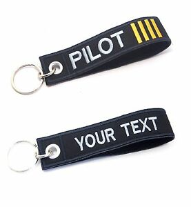 Pilot Keychain 100% Embroidered Luggage Tag Flight Crew Tag Aviamart®