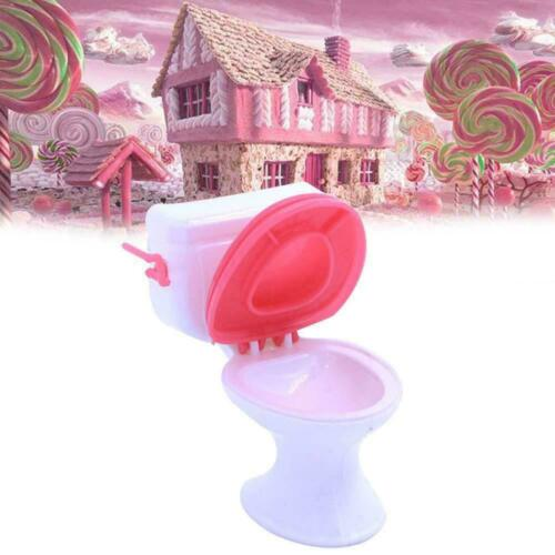 1:12 Doll Accessories Plastic Toilet Doll Toy Bathroom Furniture Dollhouse P2P5
