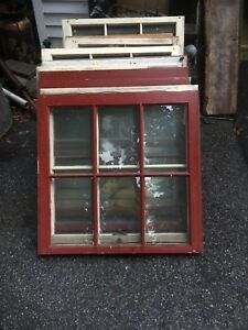 Vtg 6 Pane Wooden Window Sash Country Farm Pinterest Diy Project