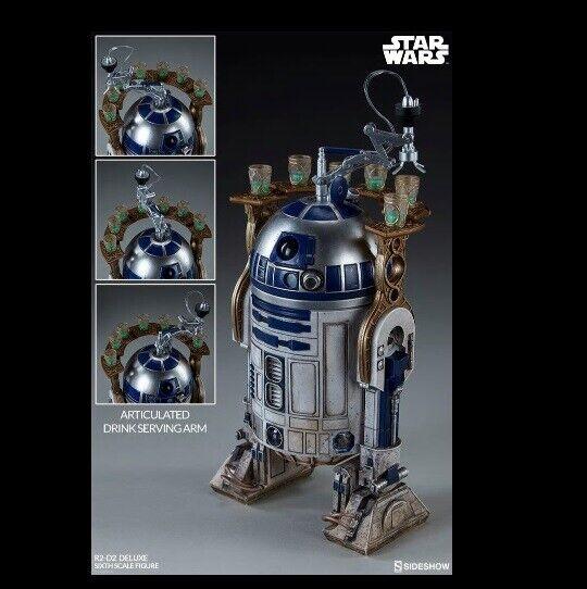1  6 skala stjärnornas krig R2 -D2 Deluxe Figur sideshow samlaibles