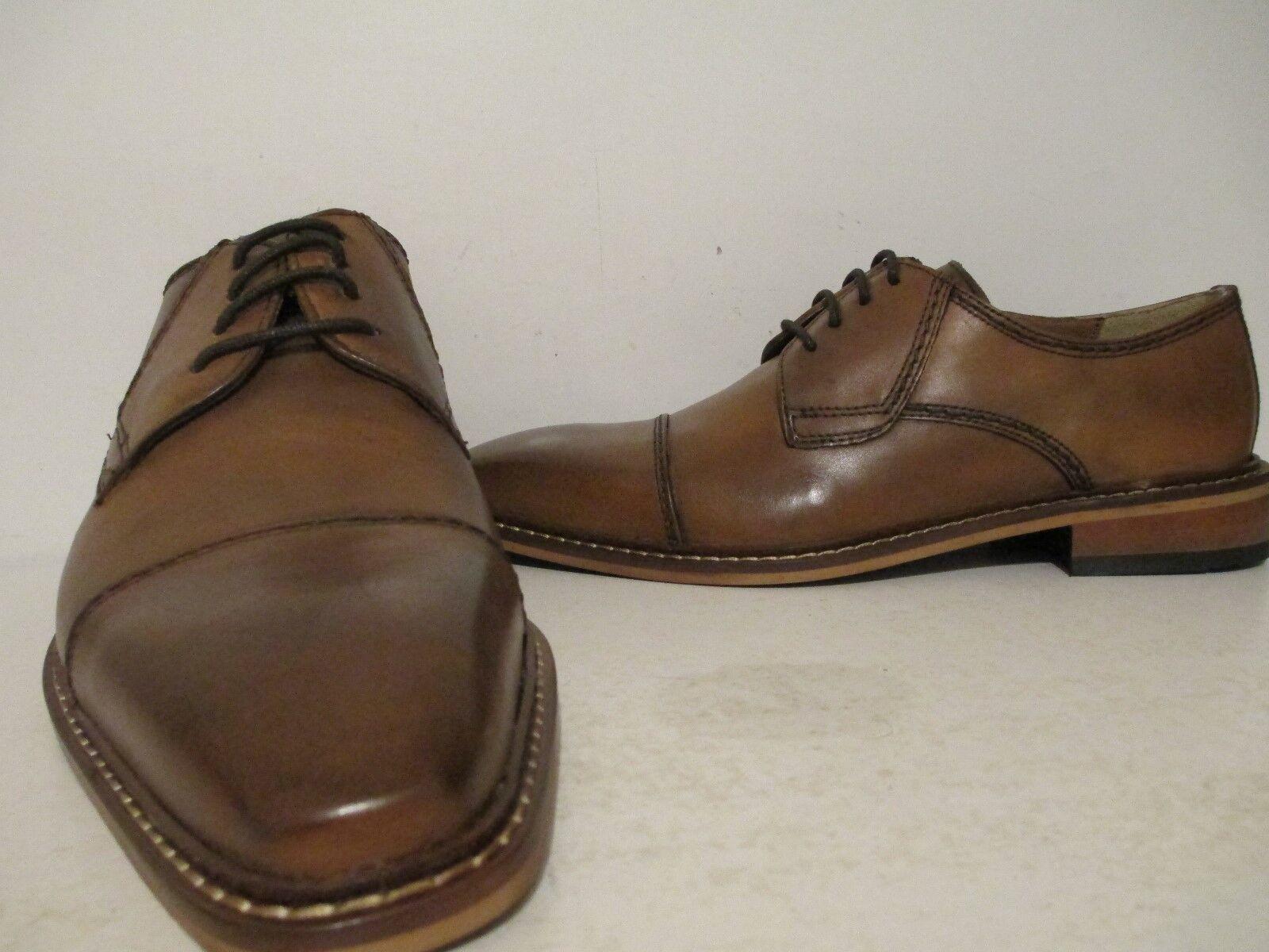 Giorgio Brutini Uomo Revenant 25074 Pelle Oxford Dress Shoe Tan Size 10 M