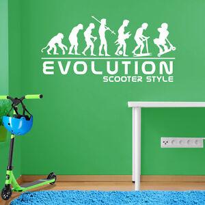 Evolution-of-Man-Scooter-Style-Stunt-Kids-Children-Street-Ride-Wall-Sticker-A104