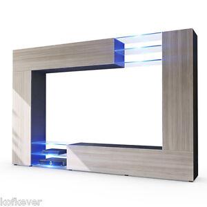Parete porta tv moderna wast soggiorno porta televisore libreria cm 260x182x37 ebay - Porta televisore da parete ...