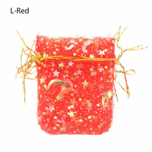 Party Decoration Stars Gift Bags Organza Pouch Merry Christmas Jewelry Bright