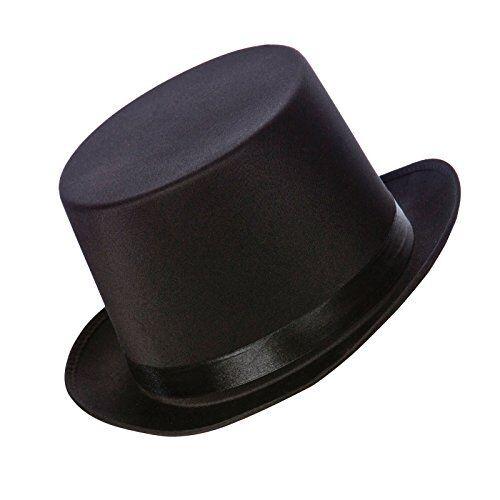 59af48312 Deluxe Satin Black Top Hat Fancy Dress Accessory Multicolour