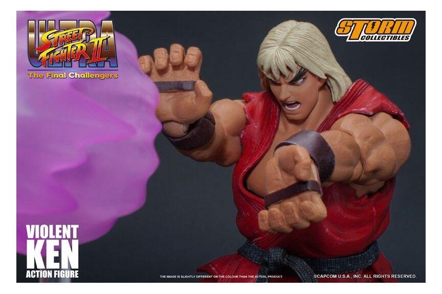 Ultra rue Fighter  II Final Challengers Brainwashed Ken Storm Collectibles nouveau  à bon marché