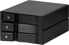 "Aluminum (2x5.25"")To(3x3.5"" SAS/SATA 6.0G HDD) (Hot-Swap Trayless Backplane) NEW"