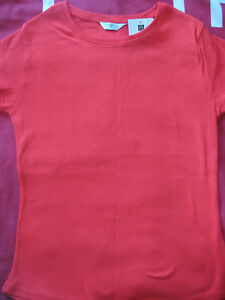 NEW-WOMEN-039-S-CLOTHES-EDITIONS-T-SHIRT-TOP-RED-100-COTTON-T-SHIRT-UK-12-BNWT