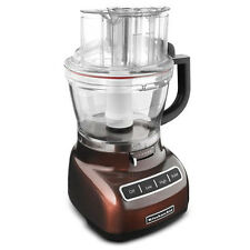 KitchenAid Adjust 13-cup Food Processor Die Cast Metal Espresso Brown KFP1344ES