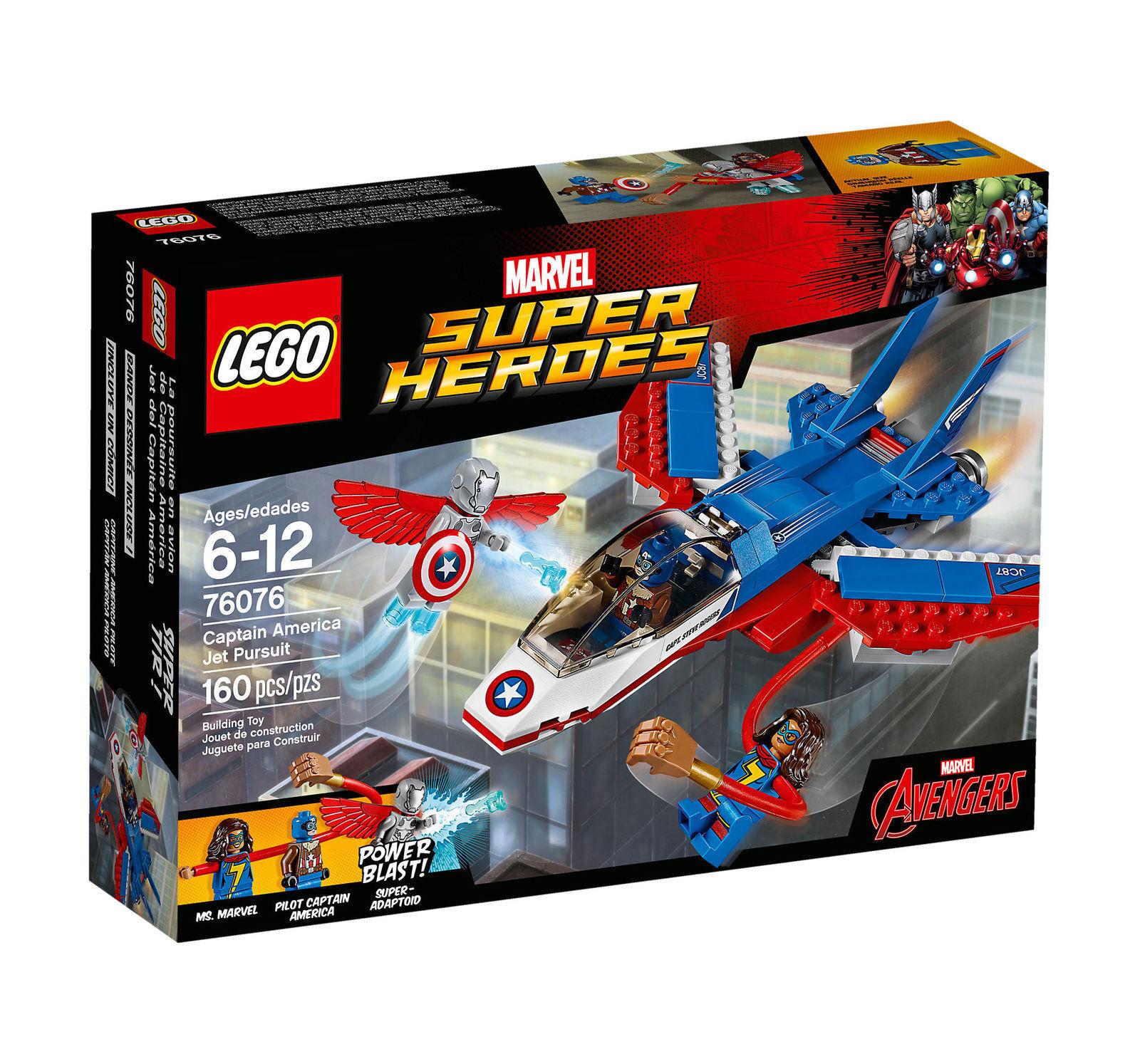 LEGO 76076 Marvel Super Heroes Captain America Jet Pursuit Superhero Toy
