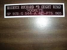 MAURICE RICHARD NAMEPLATE FOR SIGNED PUCK DISPLAY/JERSEY CASE/PHOTO