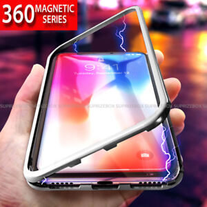 newest f2eb6 28ded Details about For Huawei Mate 20 Pro Magnetic Absorption Metal Bumper Glass  Case Cover
