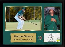 Sergio Garcia signed autographed US Masters 2017 Golf Memorabilia Framed