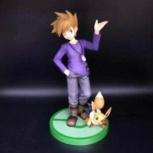 New-in-Box-8-039-039-Gary-Oak-amp-Eevee-Action-Figures-PVC-Toy-Animation-Model-Gift