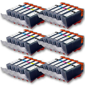 30 druckerpatronen f r canon pixma mg5450 mg5550 mg5650 mit chip ebay. Black Bedroom Furniture Sets. Home Design Ideas