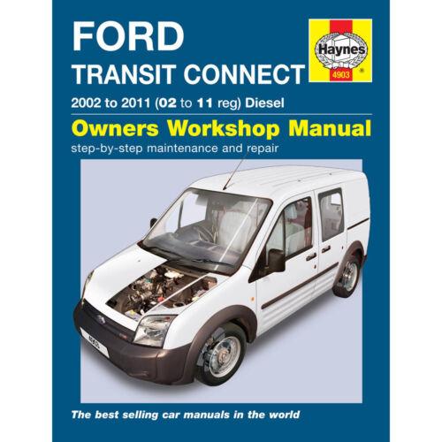Ford Transit Connect Haynes Manual 2002-11 1.8 Diesel Workshop ...