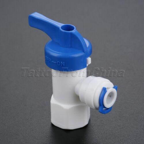 """1//4/"""" 3//8/"""" Diamètre extérieur Tuyau Filtre à eau vanne à bille Osmose Inverse Système Raccords 1//4/"""" Filetage Femelle"""