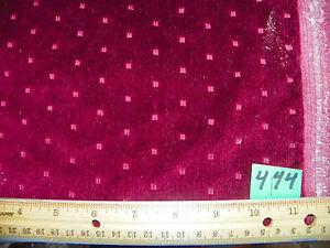 Burgundy Dot Print Cut Velvet Upholstery Fabric 1 Yard R444