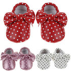 Infant Toddler Baby Kids Girl Floral Soft Sole Crib Shoes Bowknot Moccasin 0-18M