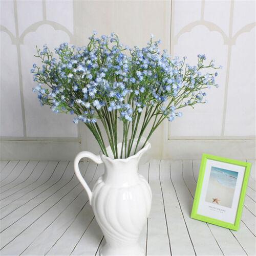 Artificial Fake Babys Breath Gypsophila Silk Flowers Bouquet Home Wedding Decor
