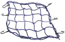 "Blue Cargo Net Bungee Tie Down 6 Hook 15"" x 15"" Emgo Motorcycle ATV UTV Pick-up"