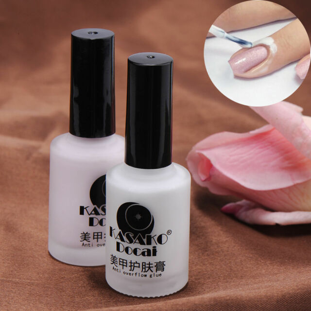White Peel Off Liquid Tape & Peel Off Base Coat Nail Art Palisade Cuticle Cream