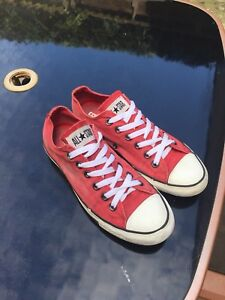 ffdb243d84df Image is loading Womens-Red-Converse-Trainers-Uk-Size-6-Good-