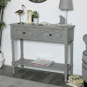 Ornate-grey-lattice-front-console-table-living-room-hallway-furniture