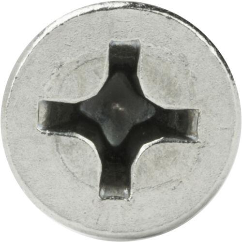 "#4 x 1-1//2/"" Phillips Flat Head Sheet Metal Screws Stainless Steel Qty 250"
