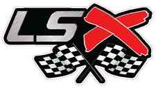 """LSX With Checkered Flags Version 2 Large Decal 9.75"""" x 4"""""""