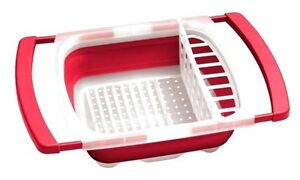 Charmant Image Is Loading RED Collapsible Over The Sink DISH DRAINER Folding