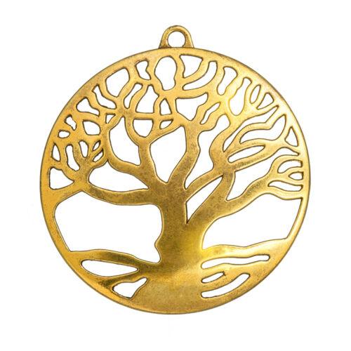 N61//2 60mm Antique Golden Tibetan Tree of Life Pendant Pack of 1