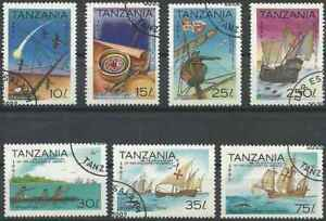 Timbres-Bateaux-Christophe-Colomb-Tanzanie-1173-9-o-lot-27368