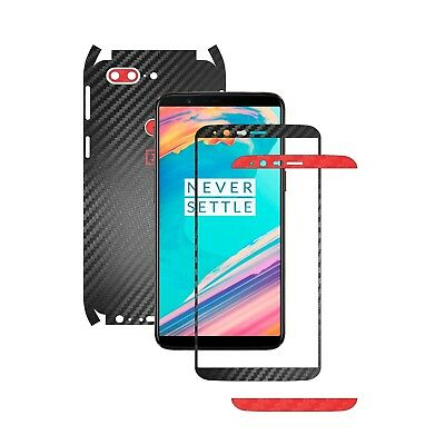 TwoTone Black Carbon Skin +14 Colors,Full Body Decal Case Wrap, OnePlus 5T