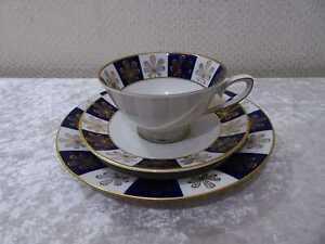 DDR-Porcelana-Colditz-Taza-de-Coleccion-Juego-Cafe-Autentico-Cobalto-Vintage