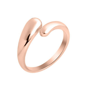 Women-039-s-Adjustable-Polished-Toe-Ring-14k-Rose-Gold-Plated-Midi-Ring