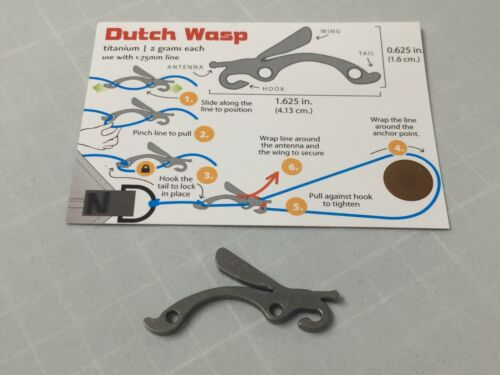 Dutchwear Gear Bling 2.2gr each Hammock Hiking Bushcraft Dutch Titanium Wasp