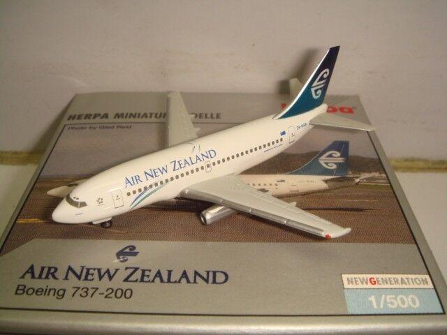 HERPA WINGS 500 Air New Zealand B737-200  1996 S Couleurs-Perera  1 500 NG