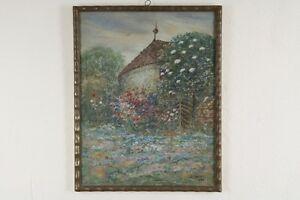 Carl-Friedrich-W-GEIST-1870-1931-Aquarell-Gouache-Wilder-Rosengarten-1926