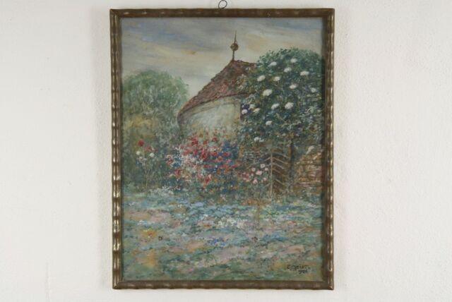 Carl Friedrich W. GEIST (1870-1931) Aquarell/Gouache Wilder Rosengarten 1926
