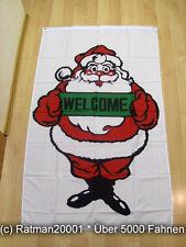 Fahnen Flagge Frohe Weihnachten Welcome Banner - 90 x 150 cm