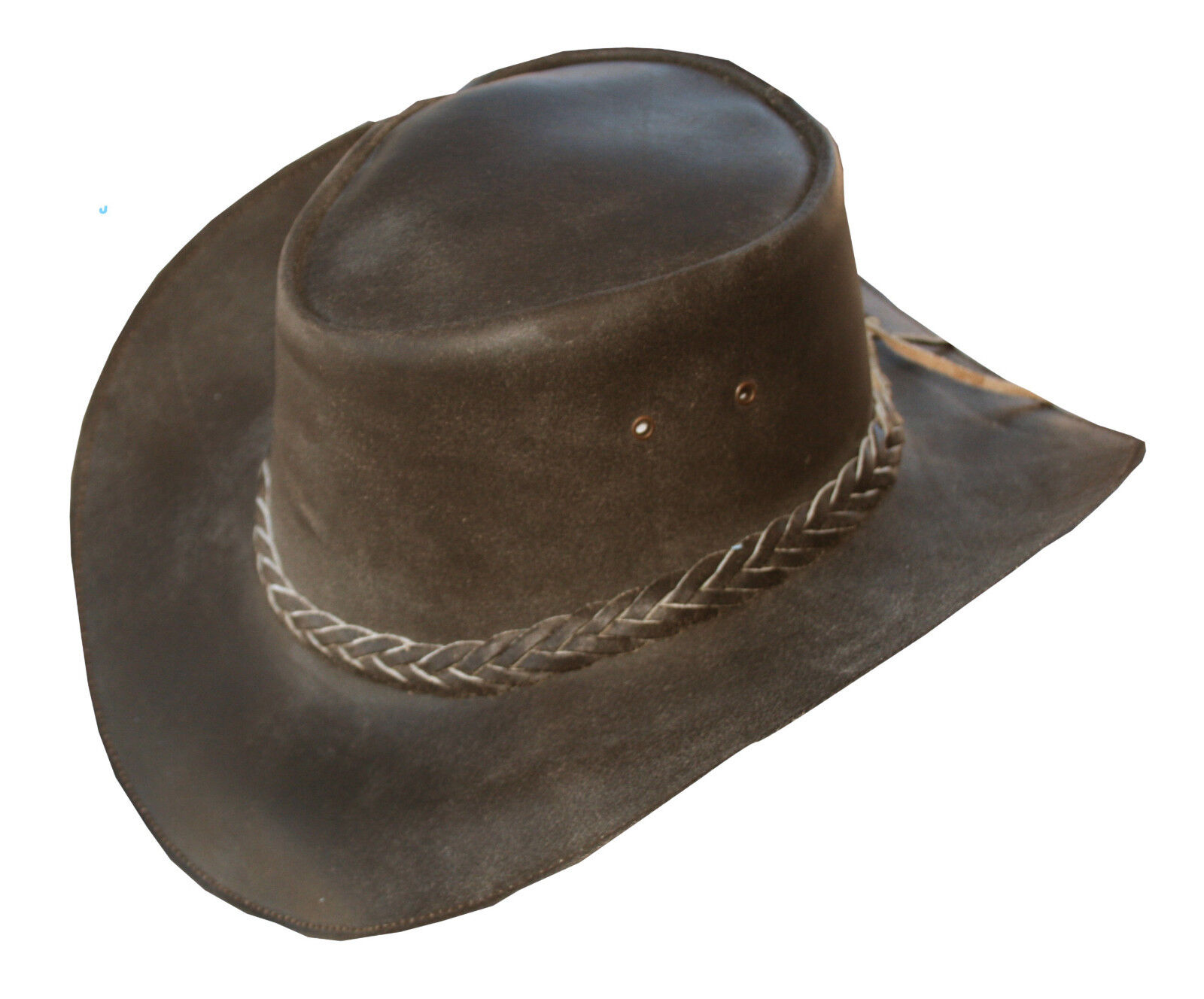 Retro Brown Brown Retro Leather Western Cowboy Hat 54efa1