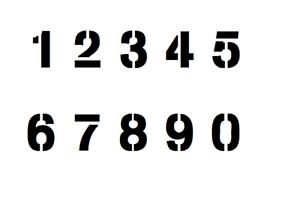 Zahlen 10cm hoch ● Set mit 10 Schablonen von 0-9 ● verschiedene Schriftarten