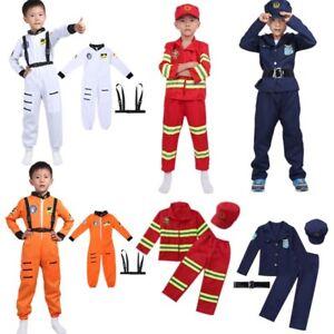 Bambini-Ragazzi-Astronauta-Costume-scontro-a-fuoco-della-Polizia-Costume-Cosplay-vestito-vestiti